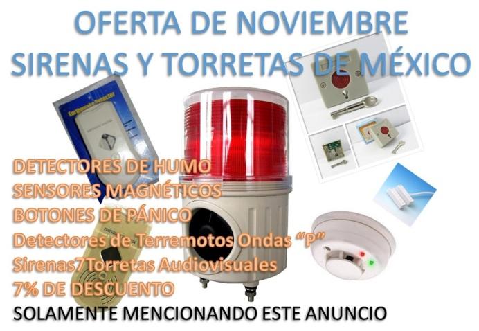 ARTÍCULOS DE VENTA 2014 SIRENAS Y TORRETAS DE MÉXICO Anuncio-oferta-noviembre-2015sirytor