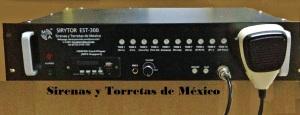 Sirenas Electrónica de Notificación Masiva de Alta Potencia 300 Watts con 10 tonos.