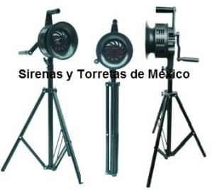 sirena manual vcf200 con tripie 2