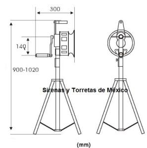 sirena manual vcf200 con tripie 3