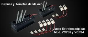 Luces estroboscópicas de 2 y 4 focos VCTS2yVCTA4TNE DECKPS24D
