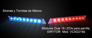módulos de 2 x 9 LEDs DECK AD219D azul y rojo parrilla