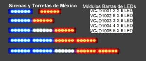 Módulos de 6 LEDs DECK JD100d y JD1005
