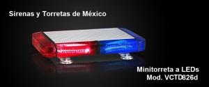 Mini Torreta a LEDs VCTD826dTNE12 x 4826d