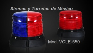 Torreta burbuja azaul y roja TNE a LEDs LE-550