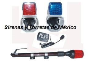 con kit luces y sirena para moto fc2 8103