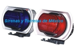 con luces post para moto rectang fc2 8110