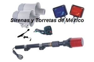 cont kit luces y sirena para moto fc2 8102