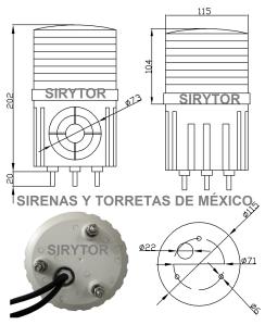 rorreta con sirena sirytor t 100 especeif