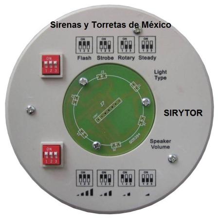 ARTÍCULOS DE VENTA 2014 SIRENAS Y TORRETAS DE MÉXICO Torreta-con-sirena-t100-base-inf