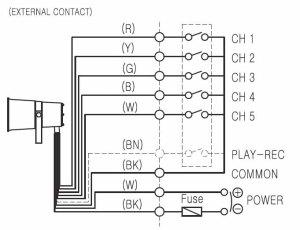 diagrama de conexiones sirena alta potencia VCHDH140