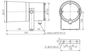 dibujo de diagrama de sirena de alta potencia vchdh140
